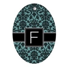 Monogram Letter F Gifts Ornament (Oval)