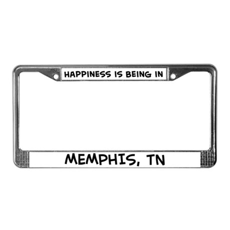 Happiness is Memphis License Plate Frame
