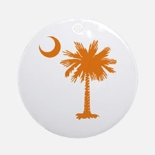 SC Palmetto & Crescent (O) Ornament (Round)
