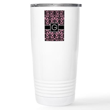 Monogram Letter G Gifts Stainless Steel Travel Mug