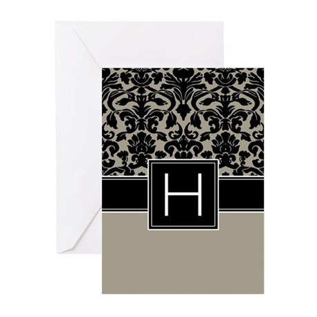 Monogram Letter H Gifts Greeting Cards (Pk of 10)