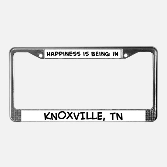 Happiness is Knoxville License Plate Frame