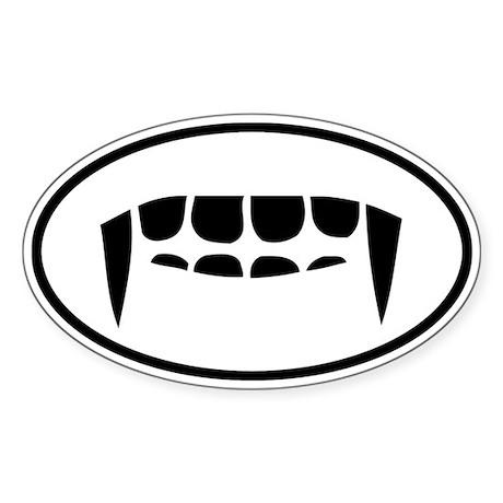 Fangs Auto Sticker (Oval)