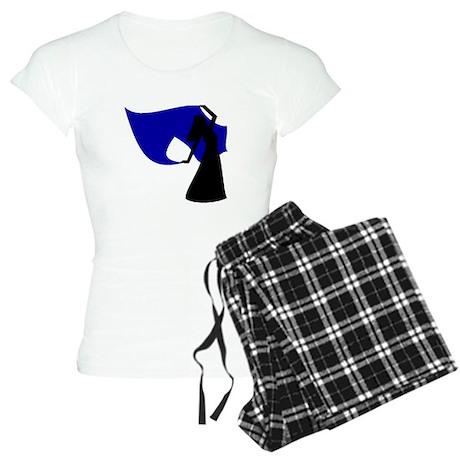 Dark Blue Veil Dancer Women's Light Pajamas