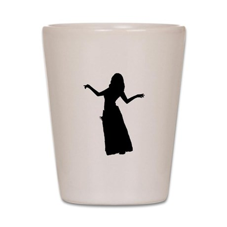 Arms Out silhouette Shot Glass