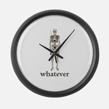 Whatever, I Don't Care Large Wall Clock