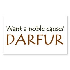 DARFUR: The Noble Cause Rectangle Decal