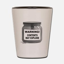CONTENTS MAY EXPLODE Shot Glass