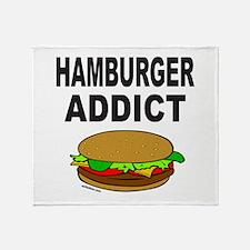 HAMBURGER ADDICT Throw Blanket