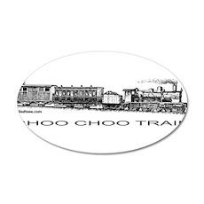 CHOO CHOO TRAIN 22x14 Oval Wall Peel