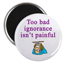 Too Bad Ignorance Isn't Painful Magnet