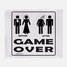 GAME OVER Throw Blanket