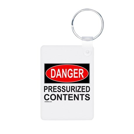 DANGER Aluminum Photo Keychain