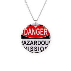 DANGER Necklace Circle Charm