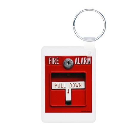 FIRE ALARM Aluminum Photo Keychain