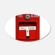 FIRE ALARM 22x14 Oval Wall Peel