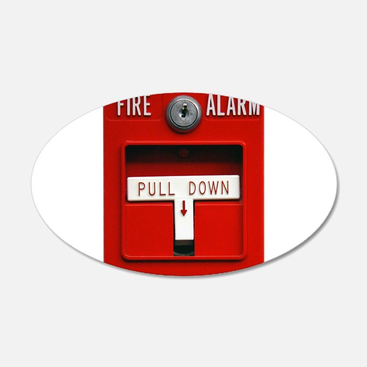 FIRE ALARM 22x14 Oval Wall Peel