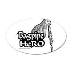 BAGPIPE HERO 38.5 x 24.5 Oval Wall Peel