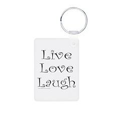 LIVE LOVE LAUGH Keychains
