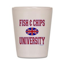 FISH AND CHIPS Shot Glass