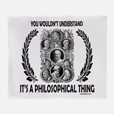 PHILOSOPHY Throw Blanket