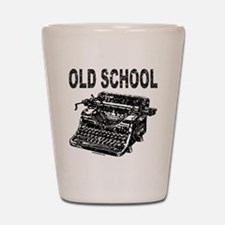 OLD SCHOOL TYPEWRITER Shot Glass