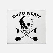 MUSIC PIRATE Throw Blanket