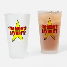 I'M MOM'S FAVORITE Drinking Glass