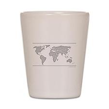 GEOGRAPHY/WORLD MAP Shot Glass