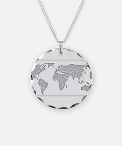 GEOGRAPHY/WORLD MAP Necklace