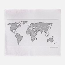 GEOGRAPHY/WORLD MAP Throw Blanket
