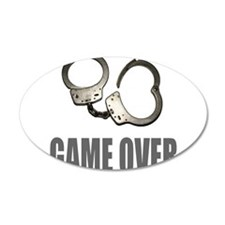 HANDCUFFS/POLICE 22x14 Oval Wall Peel