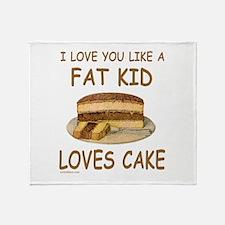 Cute I love fat amy Throw Blanket