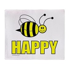 BEE HAPPY Throw Blanket