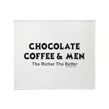 CHOCOLATE COFFEE & MEN Throw Blanket
