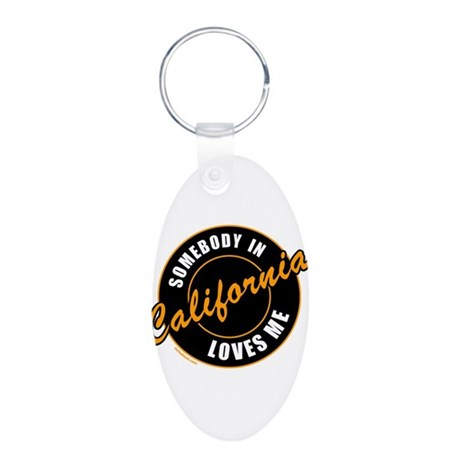 CALIFORNIA Aluminum Oval Keychain