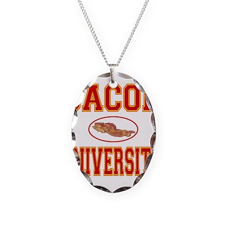 BACON/PORK Necklace Oval Charm