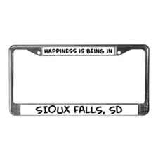 Happiness is Sioux Falls License Plate Frame