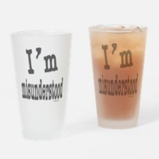I'M MISUNDERSTOOD Drinking Glass