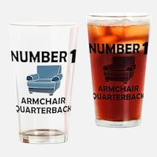 ARMCHAIR QUARTERBACK Drinking Glass