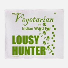 LOUSY/BAD HUNTER Throw Blanket