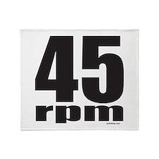 45 RPM Throw Blanket