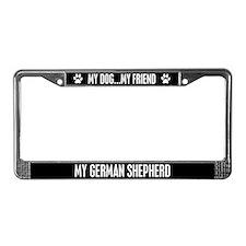 German Shepherd License Plate Frame