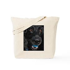 Let's Play - Black German She Tote Bag