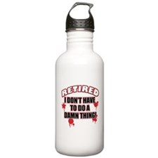 Funny retired Water Bottle