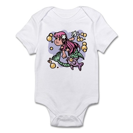 Little Mermaid Infant Creeper