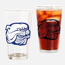bulldog mongrel dog Drinking Glass