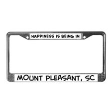 Happiness is Mount Pleasant License Plate Frame