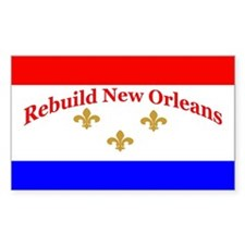 Rebuild New Orleans Flag Rectangle Decal