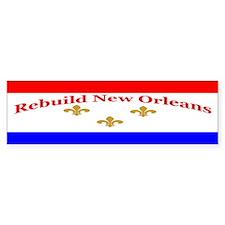 Rebuild New Orleans Flag Bumper Bumper Sticker